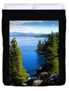 Lake Tahoe From The Rubicon Trail Duvet Cover