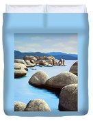 Lake Tahoe Rock Garden Duvet Cover