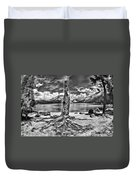 Lake Tenaya Giant Stump Black And White Duvet Cover