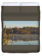 Lake Towhee In Autumn Duvet Cover