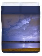 Lake View Lightning Thunderstorm Duvet Cover