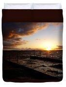 Lake Waconia Sunset Duvet Cover