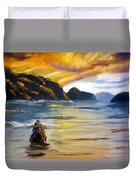 Lake Wahatipu Queenstown Nz Duvet Cover
