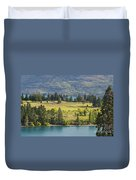 Lake Wakatipu And Queenstown Golf Course Duvet Cover