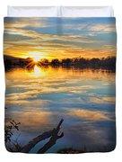 Memorial Park Sunset Duvet Cover