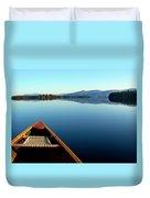 Lake Winnepasaukee Canoe Duvet Cover