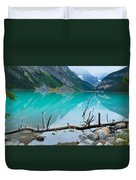 Lake With Canadian Rockies Duvet Cover