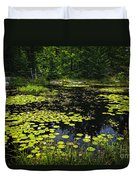 Lake With Lily Pads Duvet Cover