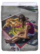 Lake Worth Street Painting Festival Duvet Cover