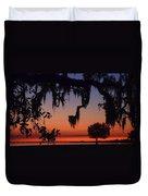 Lakefront Sunset Duvet Cover