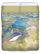 Lakes From The Seaplane In Katmai National Preserve-alaska Duvet Cover