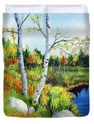 Lakeside Birches Duvet Cover