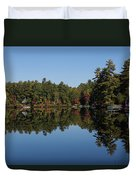 Lakeside Cottage Living - Reflecting On Relaxation Duvet Cover