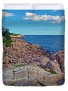 Lakies Head In Cape Breton Highlands Np-ns Duvet Cover