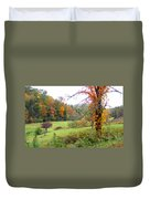 Lamance Valley In The Fall Duvet Cover
