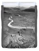 Lamar Valley Black And White Duvet Cover