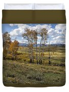 Lamar Valley In The Fall - Yellowstone Duvet Cover