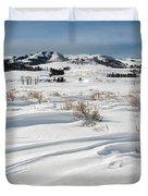 Lamar Valley Winter Scenic Duvet Cover
