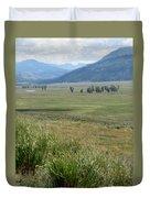 Lamar Valley Yellowstone National Park Duvet Cover