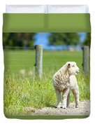 Lamb On The Farm Duvet Cover