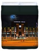 Lambeau Field At Night Duvet Cover by Tommy Anderson
