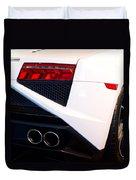 Lamborghini Gallardo Tail Light Pipes Duvet Cover