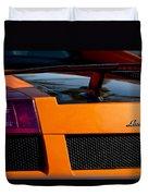 Lamborghini Rear View 2 Duvet Cover