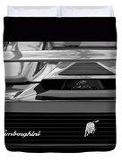 Lamborghini Rear View Emblem Duvet Cover by Jill Reger