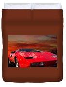 Lamborghini Starting Dream Duvet Cover