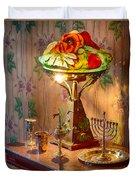 Lamp And Menorah Duvet Cover