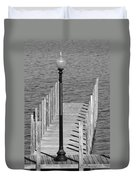 Lamp And Pier Duvet Cover