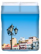 Lamp In Agios Nikolaos Duvet Cover by Luis Alvarenga