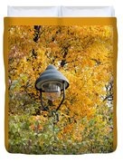 Lamp In The Autumn Leaves Duvet Cover