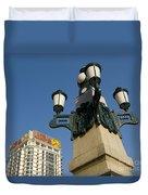 Lamp Post, China Duvet Cover