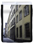 Lamp Post In Cologne Germany Alley Duvet Cover