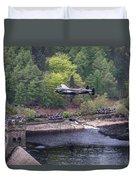Lancaster Bomber 70th Anniversary Flypast Duvet Cover