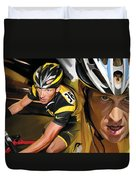 Lance Armstrong Artwork Duvet Cover