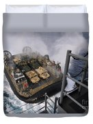 Landing Craft Air Cushion Approaches Duvet Cover