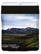 Landmannalaugar Iceland Duvet Cover