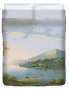 Landscape Along The Rhine Duvet Cover