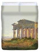 Landscape At Paestum Duvet Cover