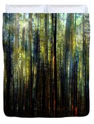 Landscape Forest Trees Tall Pine Duvet Cover