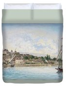 Landscape From Lake Leman To Nyon Duvet Cover
