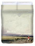 Landscape In Normandy, Traditionally Duvet Cover