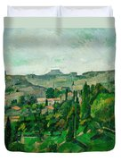 Landscape In The Ile-de-france Duvet Cover