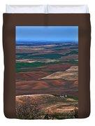 Landscape Of Rolling Farmland Steptoe Butte Washington Art Prints Duvet Cover