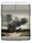 Landscape On The Outskirts Of Paris Duvet Cover