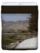 Landscape Outside The Entrance To The Eilean Doonan Castle In Sc Duvet Cover