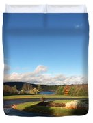 Landscape Skyview Early Morning Poconos Pa Usa America Travel Tour Vacation Peaceful Duvet Cover