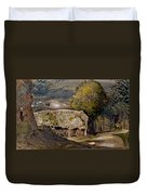 Landscape With A Barn, Shoreham, Kent Duvet Cover